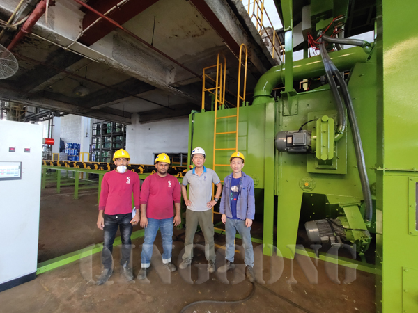 Roller Conveyor Shot Blasting Machine Installation in Singapore
